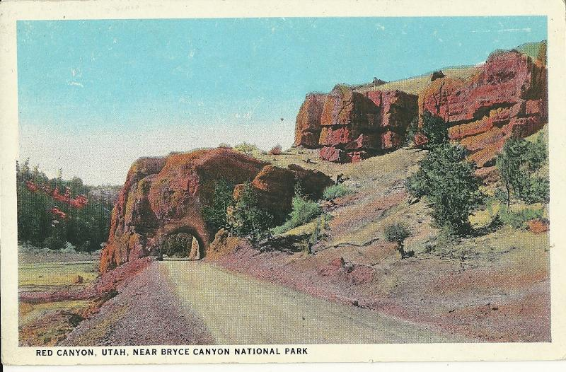 Red Canyon Utah near Bryce National Park Vintage Postcard Uncirc US