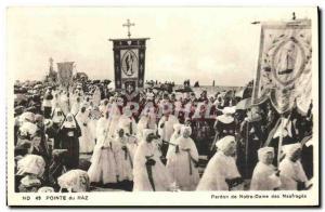 Old Postcard Pointe du Raz Forgiveness of Our Lady of shipwrecks