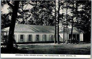 Vintage Georgia Postcard WARM SPRINGS SCHOOL, THE FOUNDATION FDR c1940s