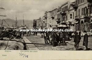 turkey, SMYRNE SMYRNA, Une Partie des Quais, Street Car, Tram (1906)