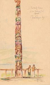 Wolf Totem Pole , Prince Rupert , B.C. , Canada , 30-40s