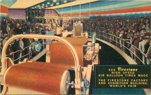 Chicago Illinois Firestone Balloon Tires Worlds Fair Donnelly Postcard 21-10698