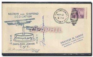 Letter US Noonand year Dedication Diamond Oakland December 11, 1934