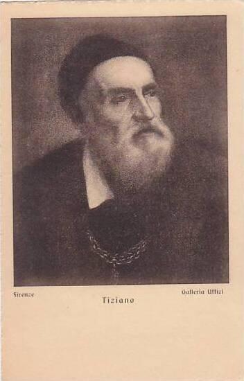 Tiziano Self Portrait Italy Firenze Galleria Uffiza
