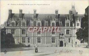 Old Postcard Chateau de Blois asylum louis XII Facade Exterior