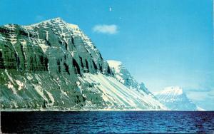 Iceland Mountainous Shore Near Isafjordhur On The Northeast Coast
