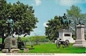 Pennsylvania Gettysburg Statues Of General Buford And General Reynolds