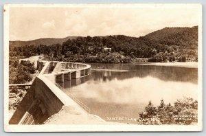 Santeetlah Dam North Carolina~Top Walk Close Up~WM Cline 1938 RPPC