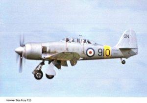 Hawker Sea Fury T20 Military Plane Aircraft Postcard