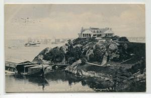 E D Morgan Residence Beacon Rock Newport Rhode Island 1908 postcard