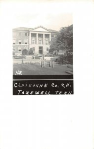 LPSS19 Tazewell Claiborne Co. Tennessee Court House Postcard RPPC