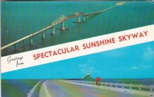 Greetings From The Spectacular Sunshine Skyway Bridge Florida
