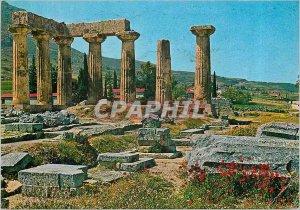 Modern Postcard The Temple of Apollo Corinth