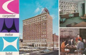 MANCHESTER, New Hampshire, PU-1963; 3-Views, Carpenter Motor Hotel, Classic Cars