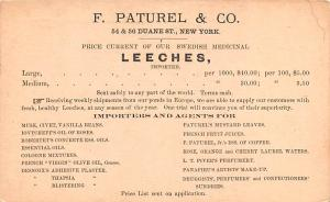 Medicine Advertising Old Vintage Antique Post Card Leeches 1894