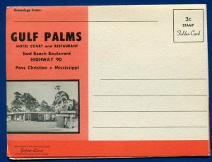 Gulf Palms Hotel Court cafe US Hwy 90 Pass Christian Mississippi ms brochure
