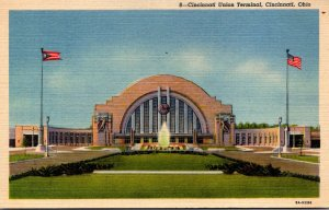 Ohio Cincinnati Union Terminal 1948 Curteich