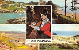 Gower: Welsh National Costume Harp Music, Limeslade Caswell Bay, Port Eynon