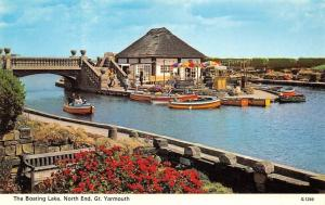 Gt Yarmouth The Boating Lake North End Bridge Pont Bateaux