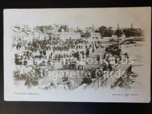 c1904 Dumfries: The Sands - showing 'CATTLE MARKET DAY' & 'CRAPES INN'
