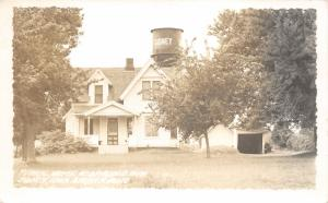 Sidney Iowa~Home near Rodeo Park~Water Tower Bkgd~1952 RPPC