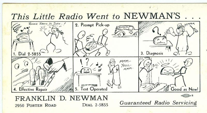 Franklin D Newman, Little Radio Went to Newman's