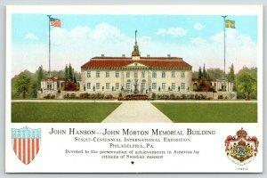 Philadelphia PA~Hanson-Morton Building~Sesquicentennial Expo Honors Swedes 1926
