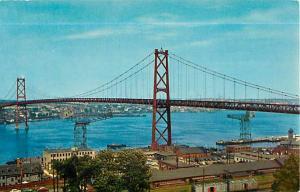 The Angus Macdonald Memorial Bridge Halifax with Dartmouth