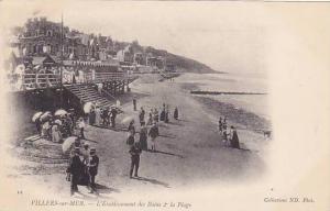 VILLERS-sur-MER , France , 00-10s ; L'Establissement des Bains & la Plage