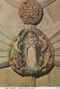 Assumption Of Mary Sculpture Interior York Minster Yorkshire Mint Photo Postcard