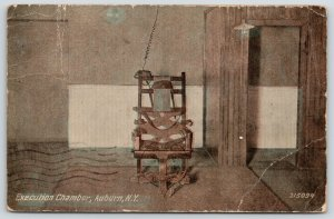 Auburn NY~Electric Chair in Execution Chamber~Death Penalty~State Prison~1913