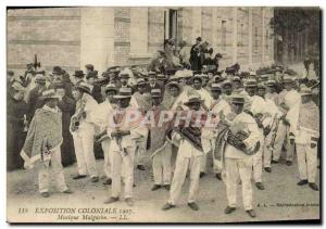 Old Postcard Colonial Exhibition 1907 Music Malagasy
