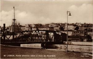 CPA Lisboa- Ponte electrica sobre a doca de Alcantara, PORTUGAL (760410)