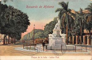 Cuba Habana   Recuerdo de Habana,  Indian Park