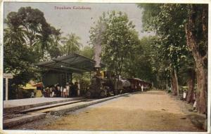 indonesia, JAVA KEDJAKSAÄN, Railway Station, Steam Train (1912) Postcard