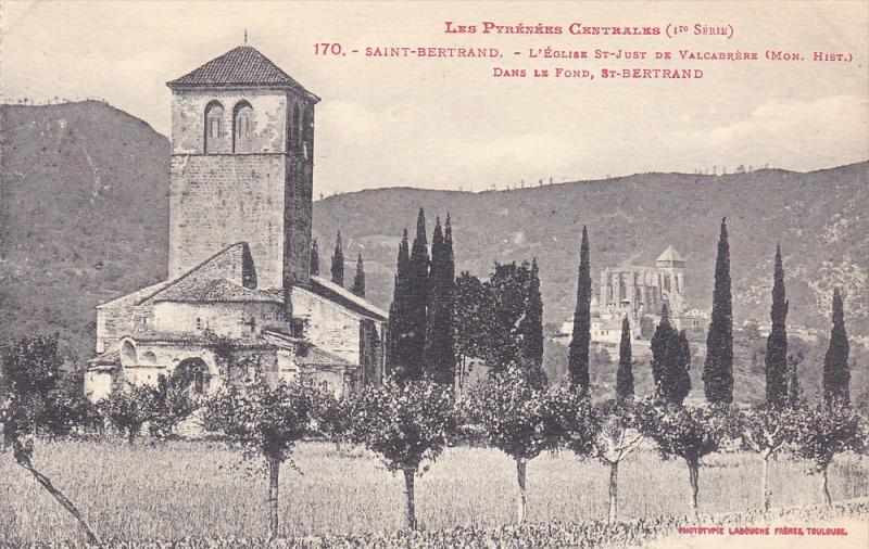 L'Eglise St-Just De Valcabrere, Dans Le Fond, St-Bertrand, SAINT-BERTRAND (Ha...