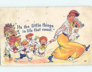 Pre-1907 comic LITTLE THINGS THAT COUNT - WOMAN WITH MANY CHILDREN HL2074