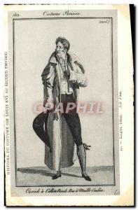 Old Postcard Parisian Suit