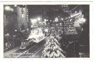 RP; Aerial View, Santa Claus on Hollywood Boulevard,Christmas Parade, Califor...
