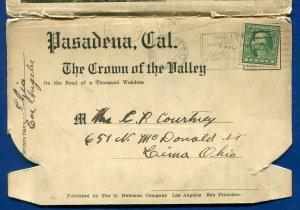 Pasadena California ca Mt Lowe Wilson Orange Dist Arroyo Seco postcard folder