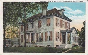 Indiana Vincennes Old Residence Of WM Henry Harrison
