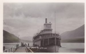 RP : BEN MY CHREE , B.C. , Canada , 20-40s ; Steamship S.S. TUTSHI at pier