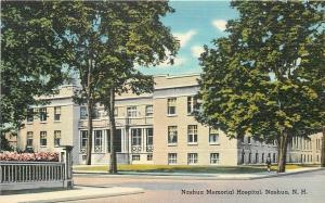 Nashua New Hampshire~Memorial Hospital~1940s Postcard