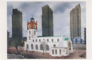 St Giles Without Cripplegate Barbican London Painting Postcard