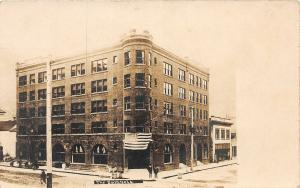 F26/ Wallace Idaho RPPC Postcard c1910 The Samuels Hotel Patriotic