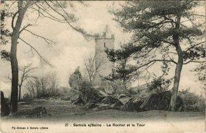 CPA Samois Le Rocher et la Tour FRANCE (1101221)