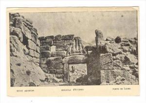 Mycenes, Greece, 1890s-1905 : Porte de Lions