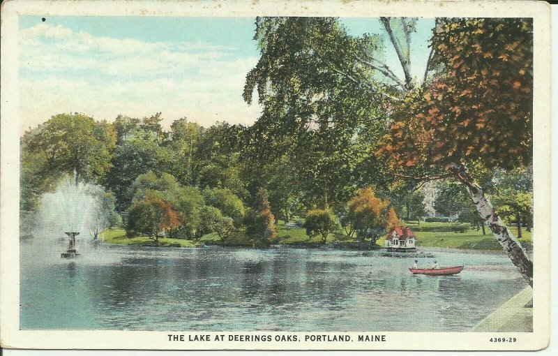 The Lake At Deering Oaks, Portland, Maine
