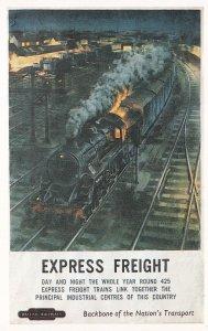 British Railways Express Freight Transport Poster Postcard