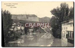 Old Postcard Pamplona Rio Arga